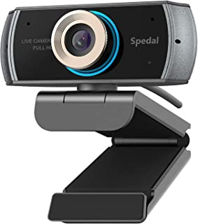 Hd Webcam 1080p with Microphone, USB Webcam for Desktop, Computer, PC,Mac, Laptop Video Conferencing, Recording, and Streaming, Plug And Play With Xbox, Zoom, Skype