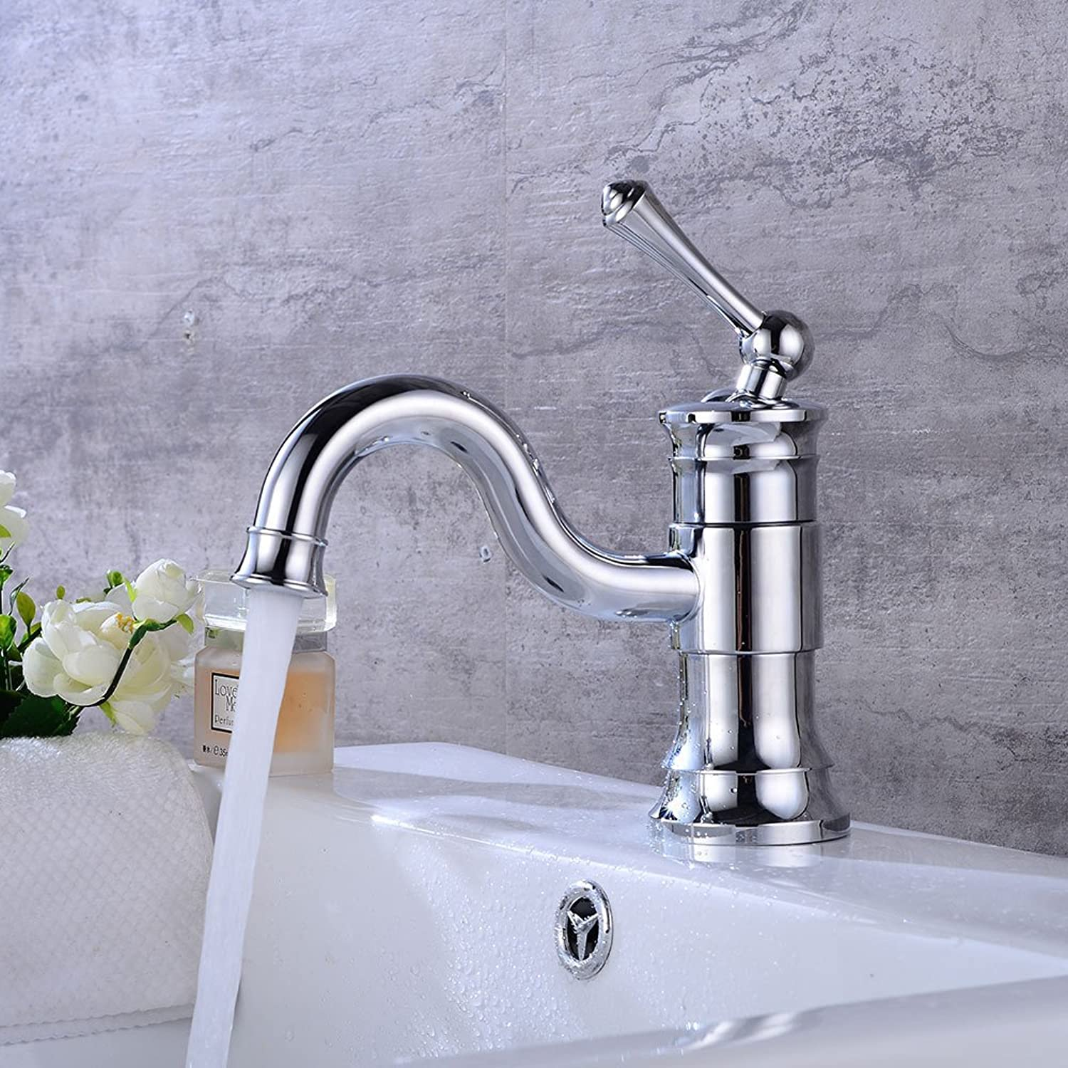 Accessori bagno ZHFC ZHFC Single hole water faucet single handle control of cold and hot mixed faucet redating faucet plating process