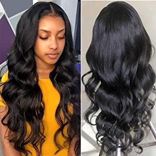 360 Lace Frontal Wigs Human Hair 16 inch Brazilian Body Wave Lace Wigs Human Hair 130% Density Pre Plucked Natural Hairline Lace-Front-Wigs-Human-Hair(16 inch,360 body wigs)