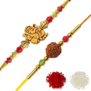 YouBella Rakhi Combo for Brother (Multi-Colour) (YBRK_69)