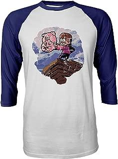 Hoyoiun Waddles Pig Pet Et Pines Mabel De pour Hommes Gravity-Falls Dr/ôle De Bande Dessin/ée Image T-Shirt /À Manches Raglan