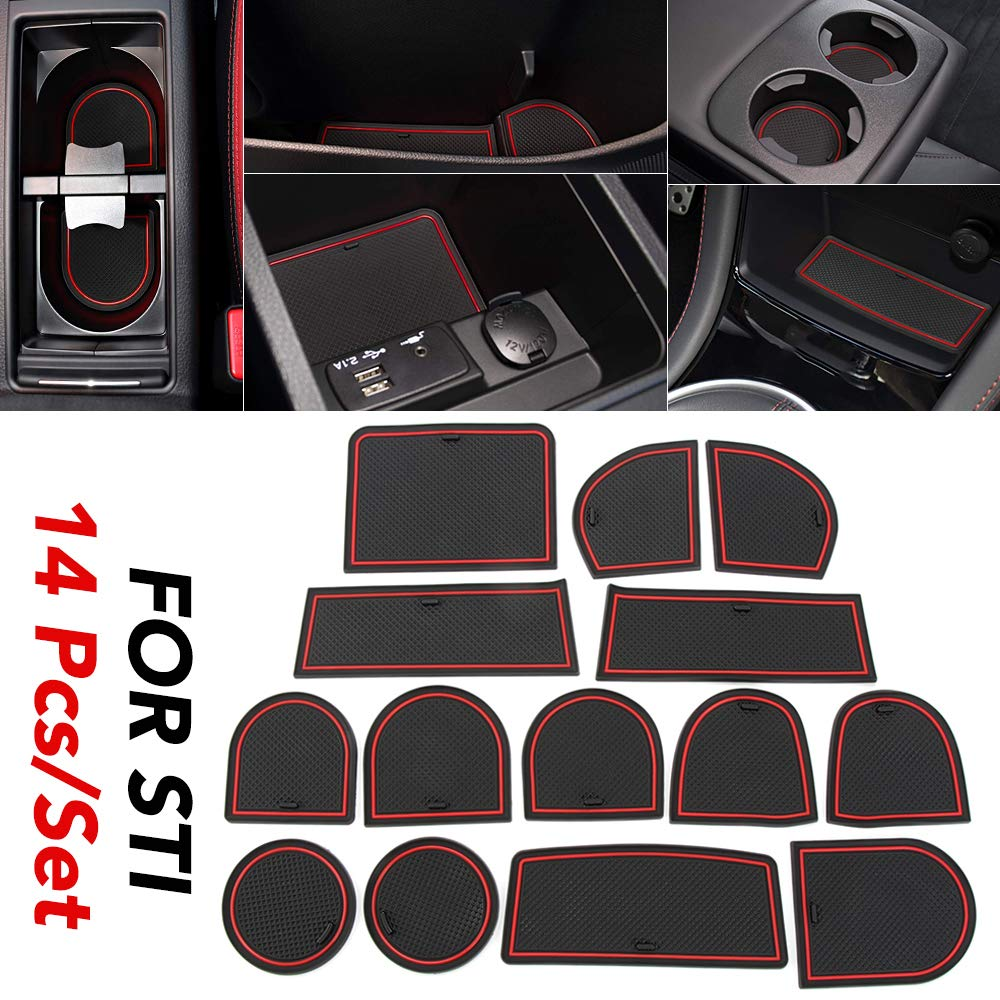 JessicaAlba for Toyota Tundra 2014 2015 2016 2017 2018 2019 2020 Custom Fit Cup and Door Center Console Liner Accessories