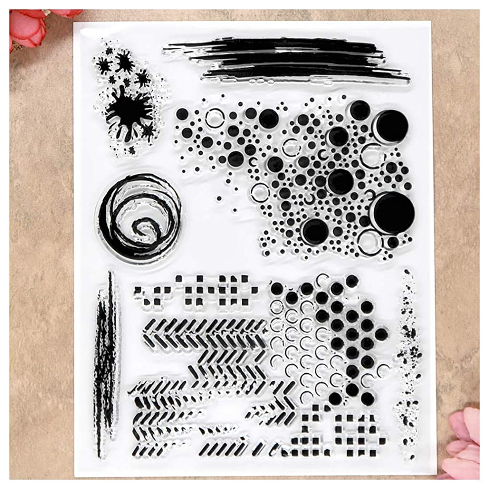 Kwan Crafts Bubble Ink Clear Stamps for Card Making Decoration and DIY Scrapbooking fbvrbawio2646