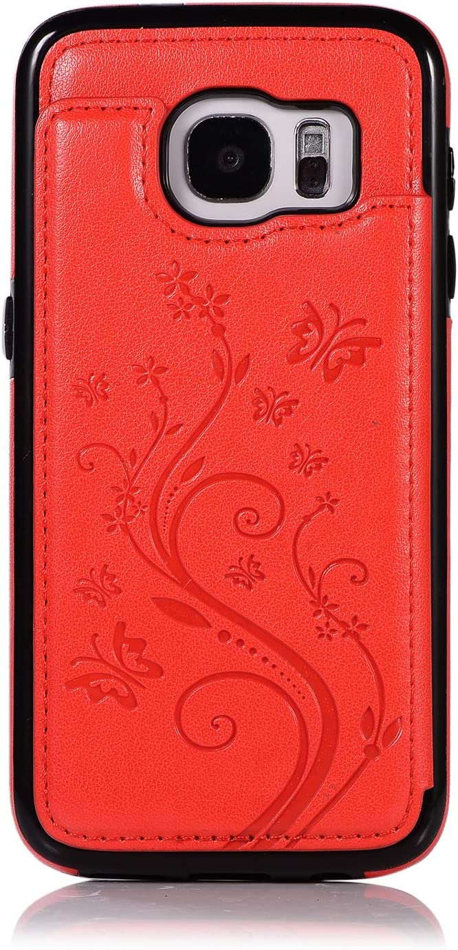 Back Wallet Case for Samsung Galaxy Max 77% OFF with QFFUN S7 Recommended Elegant Stand