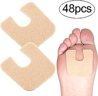 48 Pieces U-shaped Felt Callus Pads Callus Cushions Toe Pads Self Adhesive Corn Pads for Protecting Foot