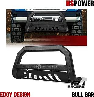 HS Power 2007-2014 for Toyota FJ Cruiser Textured Black HD Steel Bull Bar Bumper Grille Guard AVT