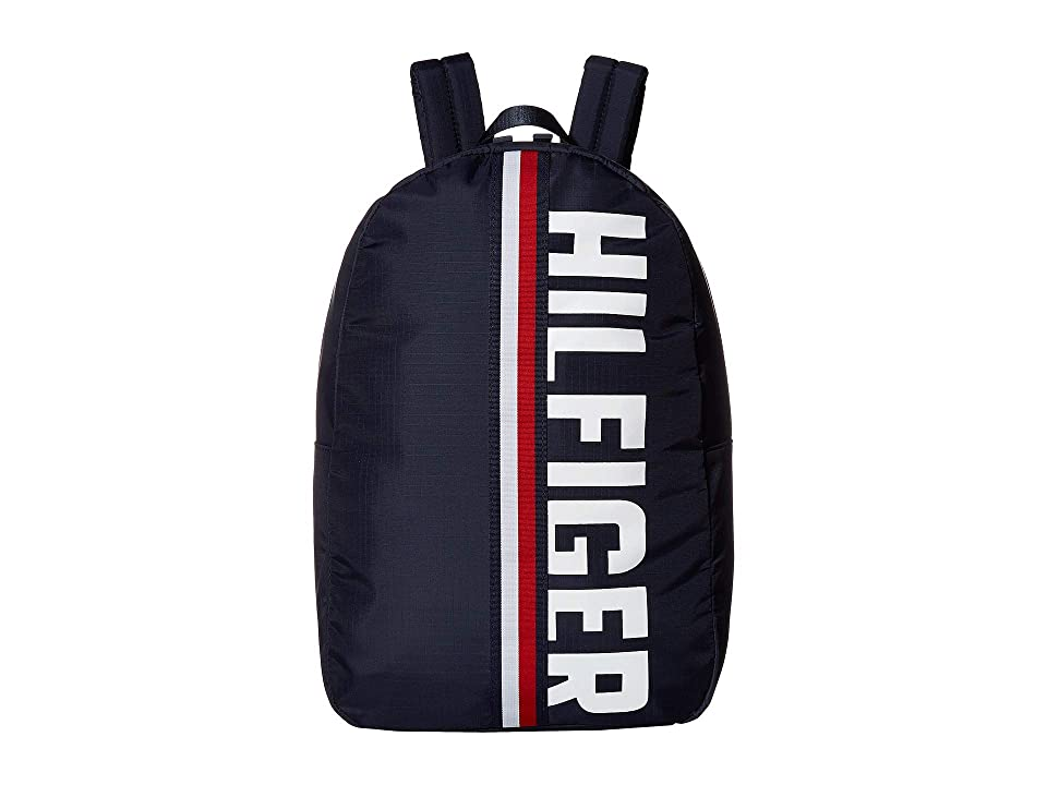 Tommy Hilfiger Knox Hilfiger Rip Stop Nylon Backpack (Tommy Navy) Backpack Bags