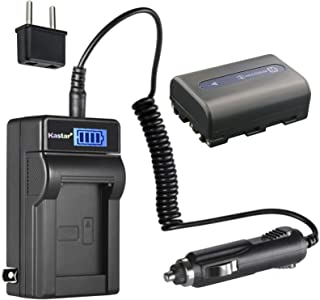 Kastar 1-Pack NP-FM50 Battery and LCD AC Charger Compatible with Sony DCR-DVD200 DCR-DVD201 DCR-DVD300 DCR-DVD301 DCR-DVD91 DCR-HC14 DCR-HC15 DCR-HC88 DCR-PC6 DCR-PC8 DCR-PC9 DCR-PC100 Cameras
