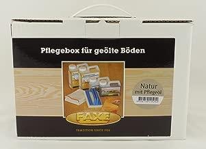Faxe Bodenpflegebox mit Pflege/öl Seife Intensivreiniger Pad Tuch weiss