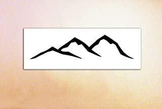 Mountain Vinyl Decal/Simple, Minimalist/MacBook, Tablet, Kindle, Car, Glass Decal/Hills/Hiking, Nature Decal
