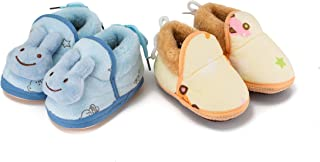 Lillypupp New Born Baby Booties Shoes for Winter and All Seasons (6-12 Months) Pack of 2