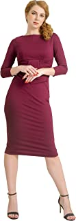 Womens Elegant Lady Vintage Evening Wiggle Midi Dress