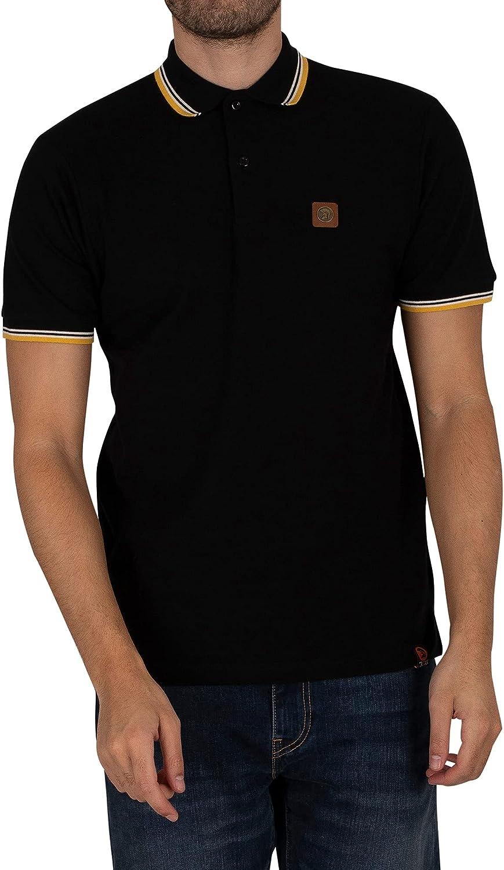 Trojan Men's Badged Pique Polo Shirt, Black