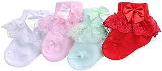 Little Baby Girl Princess Lace Ruffles Socks Set(Pack of 4)