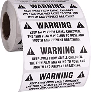 Suffocation Warning Stickers for Shipping and Packing - 3