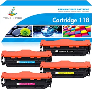 True Image Compatible Toner Cartridge Replacement for Canon 118 CRG118 Imageclass MF726CDW MF8580CDW MF8500C MF8350CDN MF8380CDW LBP7660CDN MF720C Printer Ink (Black Cyan Yellow Magenta, 4-Pack)