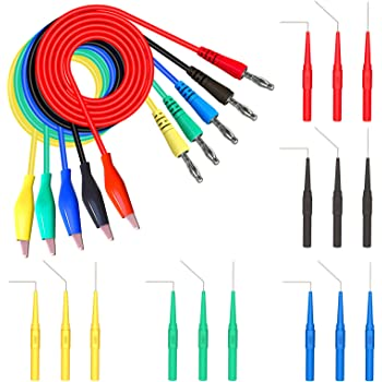 8X Digital Multimeter Electronic Automotive Test Leads Alligator Clips Probe CA