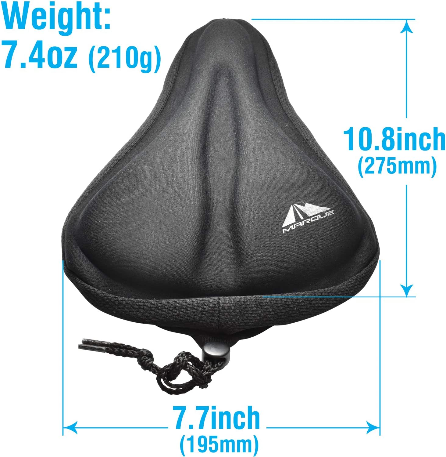 Soft Comfortable Padded Bicycle Saddle Cushion Cover for Outdoor MTB and Road Bikes and Indoor Stationary Exercise Peloton Seat Bike Seat Cushion Cover