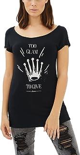 trueprodigy Casual Mujer Marca Camiseta con impresión Estam