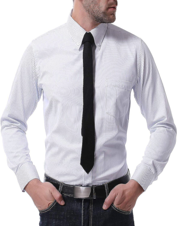 TS,RD.UG Mens Business Dress Shirts Slim Fit Long Sleeve Double Collar Button Down Shirt
