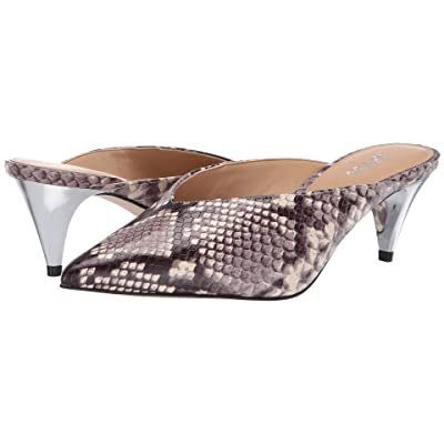 MICHAEL Michael Kors Cambria Mule (Natural Embossed Printed Snake/Galvanized Heel) High Heels