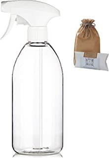 Rice Water Curly Hair Spray DIY Kit Natural Organic Korean White Rice Powder Tea Bags Empty Plastic Bottle Clear PET Safe Non-Toxic Odorless Fine Mist Soft Trigger Sprayer/Hair Growth, Conditioning