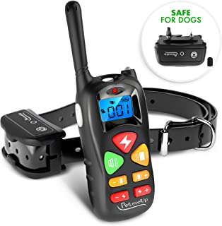 PetLevelUp Shock Collar for Dogs - Dog Training Collar with Remote Control 1000 feet - Rechargeable and Upgraded IP67 Waterproof Electric Collar for Large Medium Small Dogs