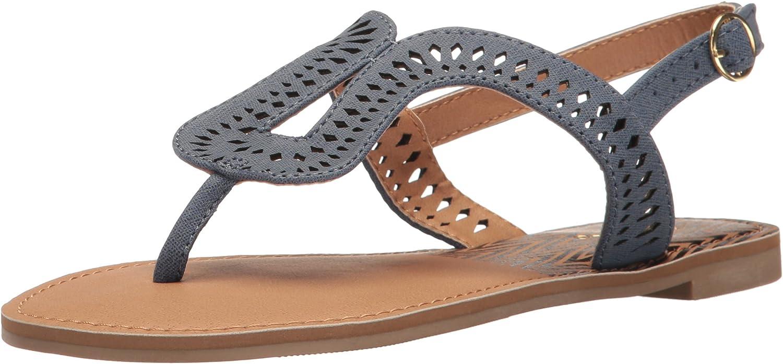 Qupid Womens Athena-1023a Flat Sandal