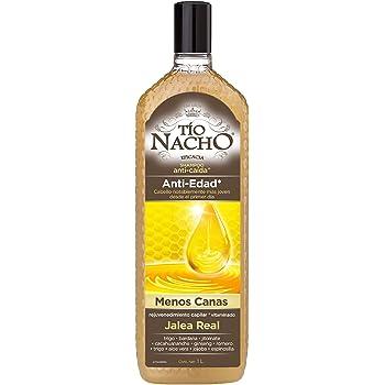 Tío Nacho Shampoo ANTI-EDAD, Menos Canas, rejuvenecimiento capilar + Jalea Real, botella 1 L