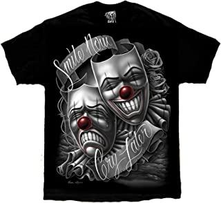 Smile Now Cry Later Drama Mask Lowrider Chicano Art David Gonzales DGA T Shirt
