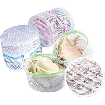 Set of 4 Delicates Mesh Laundry Lingerie Wash Bag With Secured Zipper #D