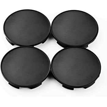 69mm//68mm ABS Car Wheel Hub Center Caps for 2005-1025-HRE CAP-CT01 Black Set of 4 Rhinotuning
