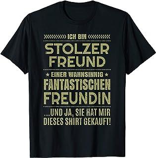 """Sprüche Fun T-Shirt für Herren und Damen """"Stolzer Freund"""""""