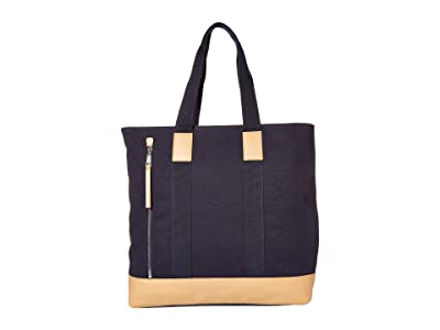 Lacoste Summer Tote Bag (Navy Blue/Pluvier Chine/Lighthouse Red) Tote Handbags