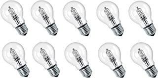 Lot de 10ampoules halogènes Eco de 70W, équivalentes aux ampoules à incandescence 100W, culot E27, transparentes, d'une...