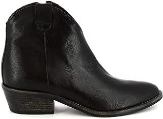 LEONARDO SHOES Luxury Fashion Womens Z122AMERICANERO Black Ankle Boots | Season Permanent