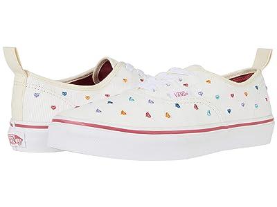 Vans Kids Authentic Elastic Lace (Big Kid) ((Rainbow Cord) White/True White) Girls Shoes