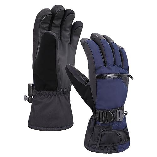 3f0b4d8cb Verabella Men's Thinsulate Insulation Touchscreen Snow Ski Gloves w/Zipper  Pocket