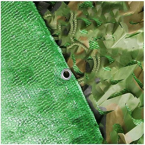Bache,Filet de camouflage Filet de camouflage Nouveau filet de camouflage extérieur Trois couches épaisses filet de camouflage Convient pour le camping caché chasse tirer crème solaire décoration de f