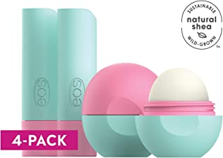 eos flavorlab Sphere & Stick Lip Balm - Watermelon Frosé | Deeply Hydrates and Seals in Moisture | 0.25 oz. Sphere | 0.14 oz. Stick | 2 Sticks, 2 Spheres