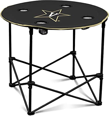 Vanderbilt Commodores Collapsible Round Table with 4 Cup Holders and Carry Bag