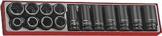 Teng Tools 15 Piece 3/4 Inch Drive 6 Point Regular & Deep Impact Socket Set - TTX9415