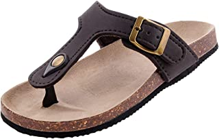 MIXIN Kids Flip Flops Sandals Open Toe Slide Flat Footbed with Buckle Strap