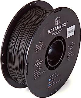 HATCHBOX 3D WOOD-1KG1.75-BLK 3D Printer Filament, Dimensional Accuracy +/- 0.03mm, 1.75 mm, 1kg Spool, Wood Black
