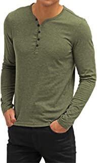 Men's Casual V-Neck Button Cuffs Cardigan Long Sleeve T-Shirts