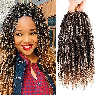 6 Packs Bomb Twist Crochet Hair 10inch Spring Twist Braiding Hair Passion Twist Hair Pre looped Crochet Hair Synthetic Hai...