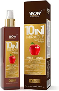 WOW Apple Cider Vinegar Facial Toner for Face, Hair, Body - Natural Hair & Skin Care Mist - Hydrating Rose Water Spray for Pore Minimizer & Clear Activator - No Alcohol, Sulfate or Silicone - 6.8 OZ