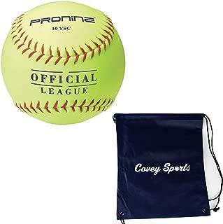 ProNine 10 Inch Soft-Core Softballs For 8U/6U Girls (Multi-Packs) Bundled With Covey Sports Bag