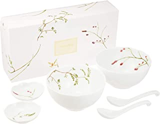 NARUMI(ナルミ) 丼セット 里花暦(さとはなごよみ) 花柄 6個セット 電子レンジ温め対応 日本製 40912-33086