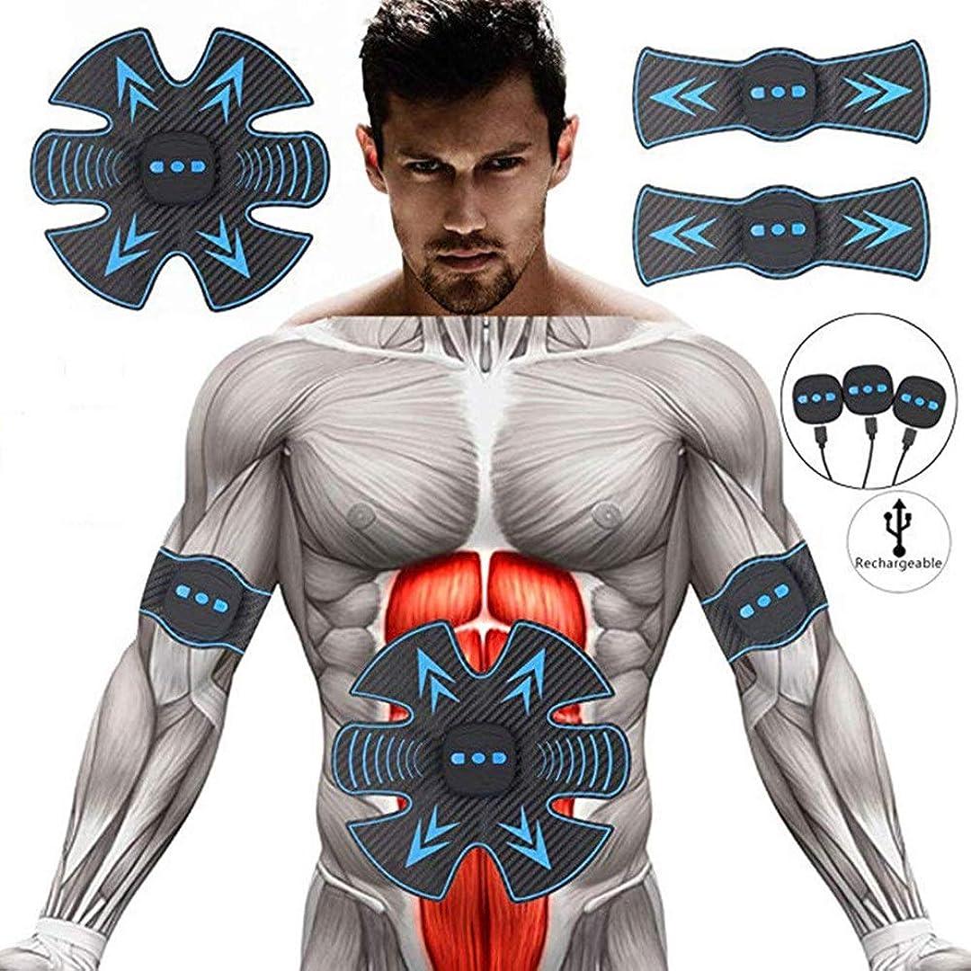 EMS筋肉フィットネストレーナー、8ブロック腹部トレーニング&脂肪燃焼脚エクササイズUSB充電式6モードAbトレーナーポータブルホームスリミング男性と女性に適しています
